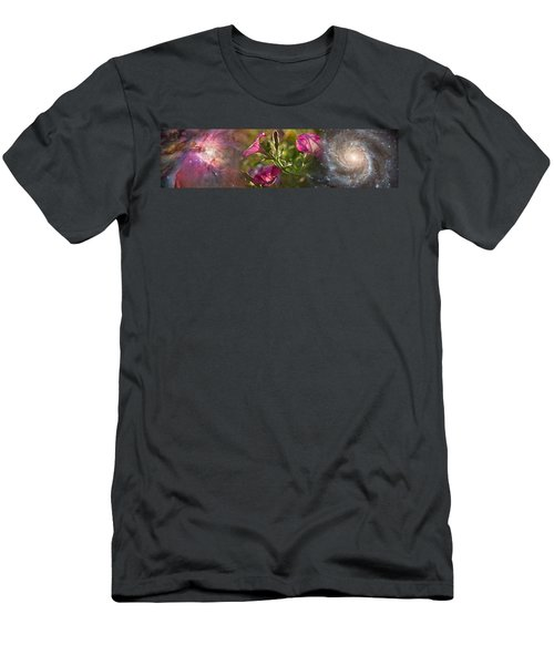 Close-up Of Flowers And Universe Men's T-Shirt (Athletic Fit)