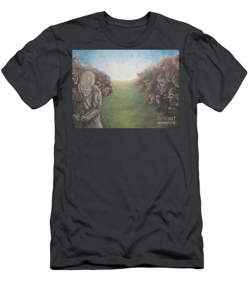 Men's T-Shirt (Slim Fit) featuring the painting Closure by Michael  TMAD Finney