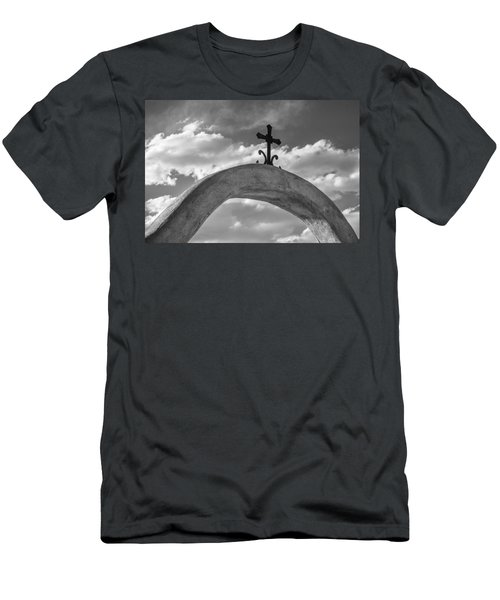 Cloud Cross Men's T-Shirt (Slim Fit) by Steven Bateson