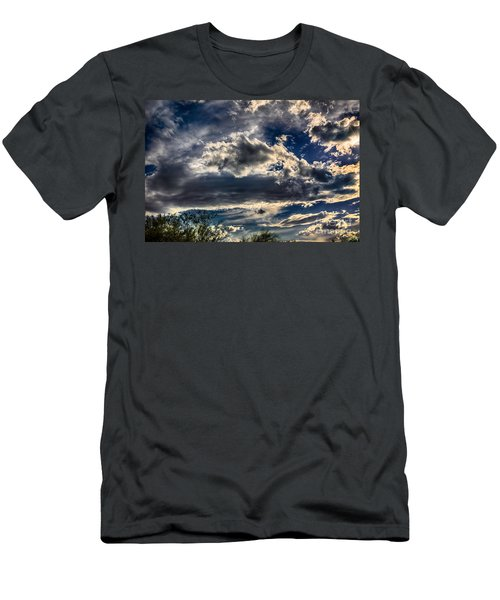 Men's T-Shirt (Slim Fit) featuring the photograph Cloud Drama by Mark Myhaver