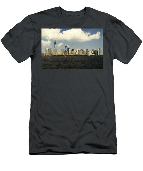 Clouds Over New York Skyline Men's T-Shirt (Athletic Fit)