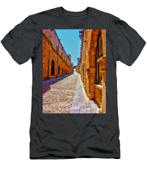Rhodes Cobbled Street Men's T-Shirt (Athletic Fit)