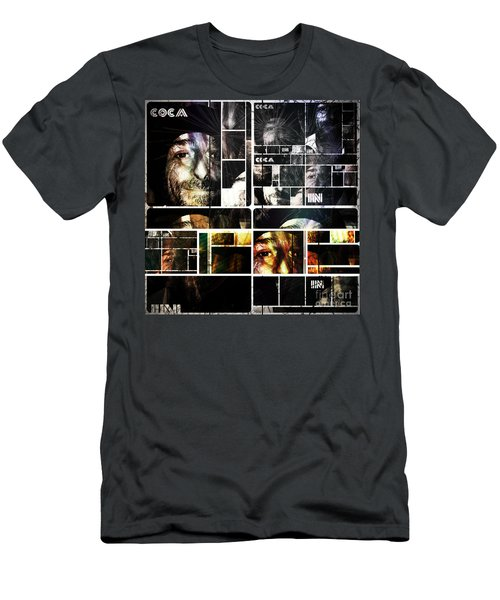 Men's T-Shirt (Slim Fit) featuring the photograph Coca In Part 5 Collage  by Sir Josef - Social Critic - ART
