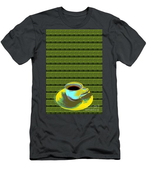 Coffee Cup Pop Art Men's T-Shirt (Athletic Fit)