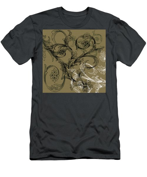 Coffee Flowers 3 Olive Men's T-Shirt (Athletic Fit)