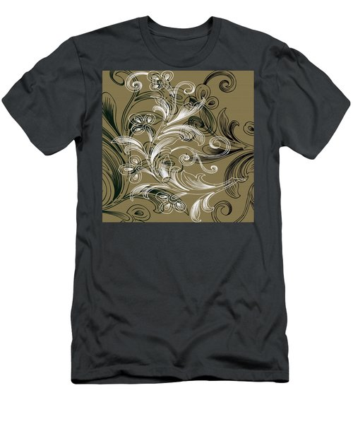 Coffee Flowers 4 Olive Men's T-Shirt (Athletic Fit)