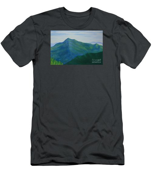 Men's T-Shirt (Slim Fit) featuring the painting Cold Mountain by Stacy C Bottoms