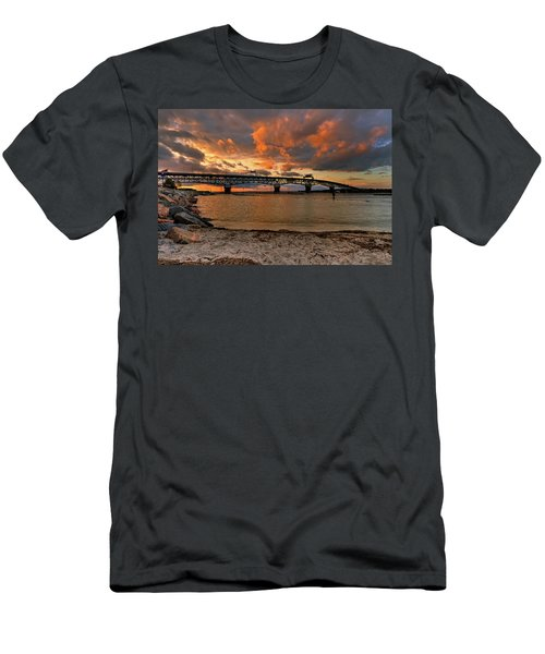 Coleman Bridge At Sunset Men's T-Shirt (Athletic Fit)