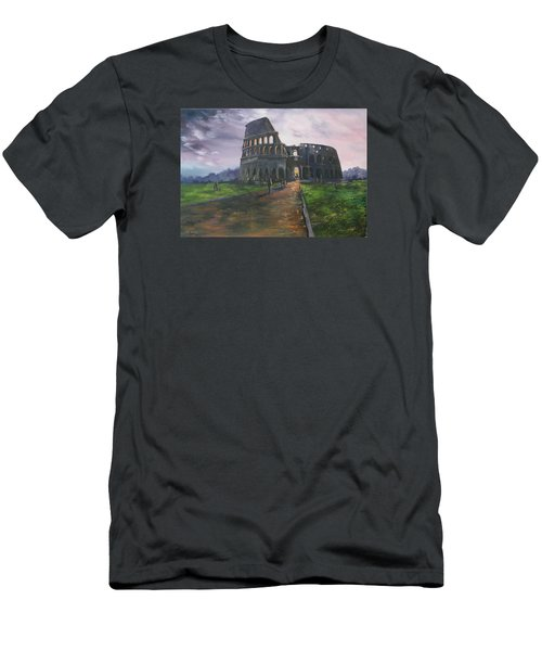 Men's T-Shirt (Slim Fit) featuring the painting Coliseum Rome by Jean Walker