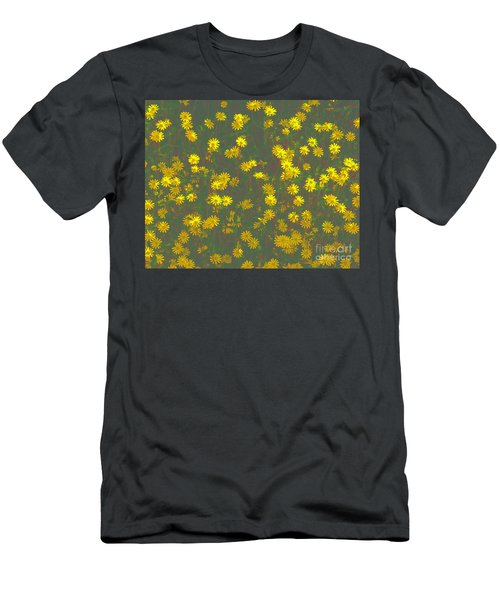 Color Flower Wall Men's T-Shirt (Athletic Fit)