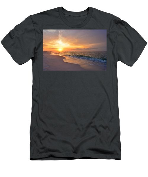 Color Palette Of God On The Beach Men's T-Shirt (Slim Fit) by Jeff at JSJ Photography