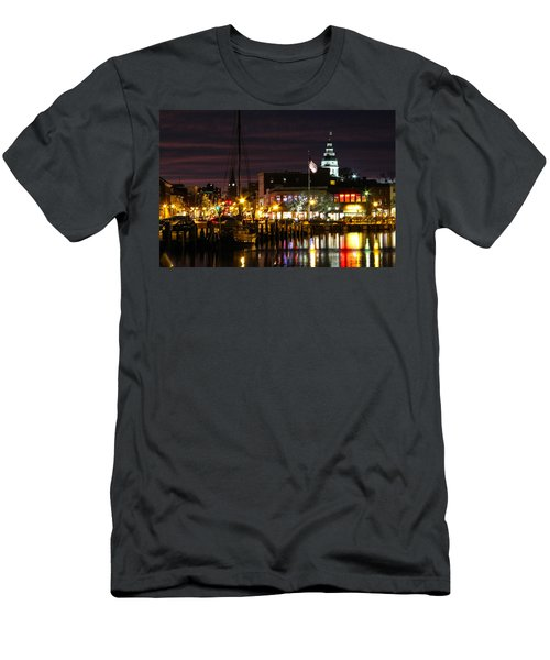 Colorful Annapolis Evening Men's T-Shirt (Athletic Fit)