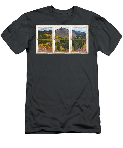 Colorful Colorado Rustic Window View Men's T-Shirt (Athletic Fit)
