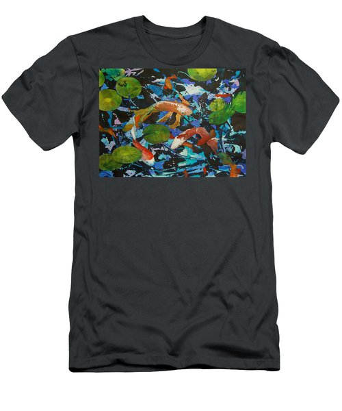 Colorful Koi Men's T-Shirt (Athletic Fit)