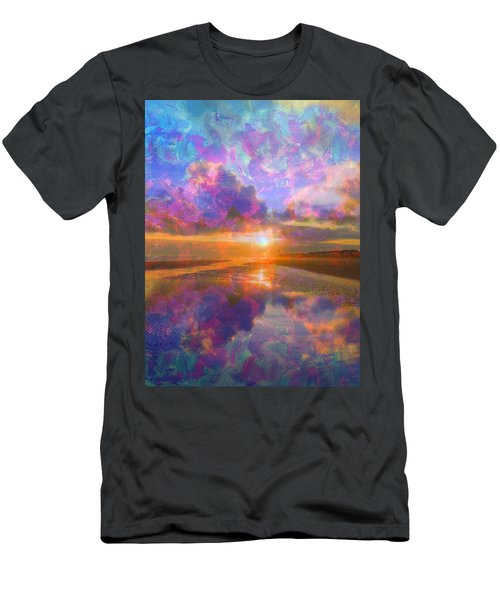 Colorful Sunset By Jan Marvin Men's T-Shirt (Athletic Fit)