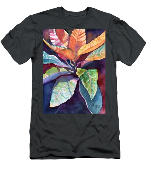 Colorful Tropical Leaves 3 Men's T-Shirt (Athletic Fit)
