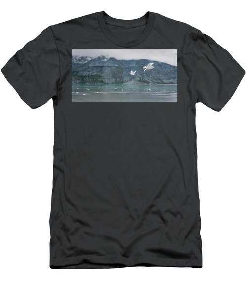 Colors Of Alaska - Glacier Bay Men's T-Shirt (Athletic Fit)