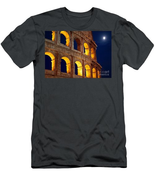 Colosseum And Moon Men's T-Shirt (Athletic Fit)