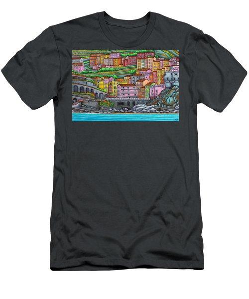Colours Of Manarola Men's T-Shirt (Athletic Fit)