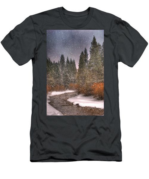 Colours Of Winter Men's T-Shirt (Slim Fit) by Juli Scalzi