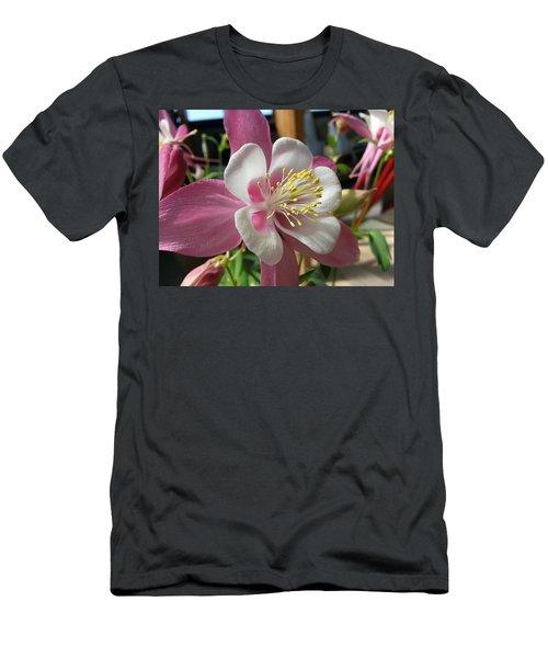 Men's T-Shirt (Slim Fit) featuring the photograph Columbine by Caryl J Bohn