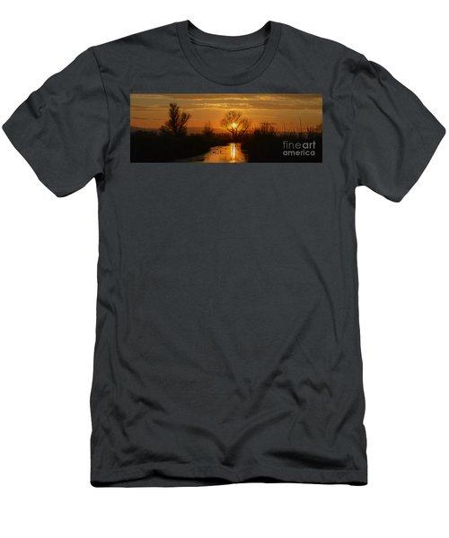 Colusa Wildlife Refuge Sunset Men's T-Shirt (Athletic Fit)