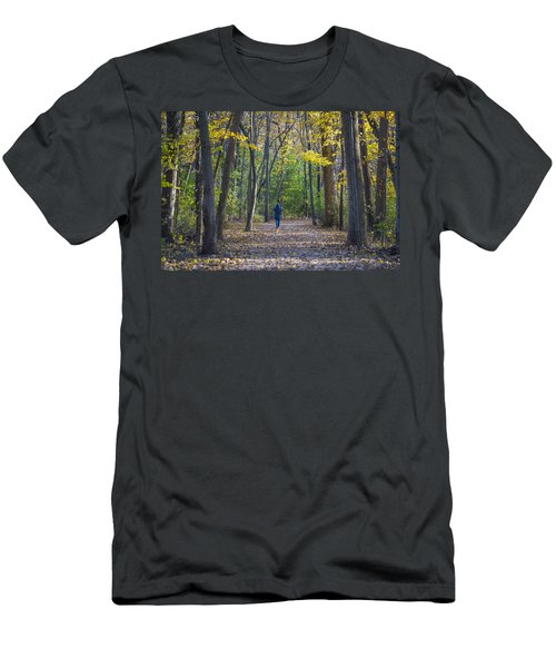 Men's T-Shirt (Slim Fit) featuring the photograph Come For A Walk by Sebastian Musial