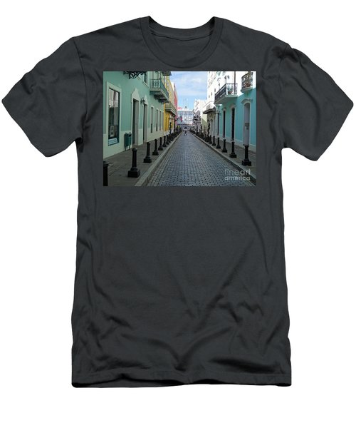 Men's T-Shirt (Slim Fit) featuring the photograph San Juan Puerto Rico by Roberta Byram