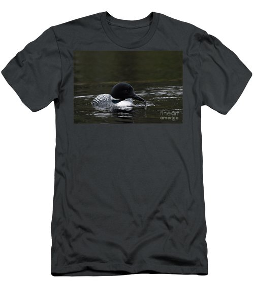 Common Loon 1 Men's T-Shirt (Slim Fit) by Larry Ricker