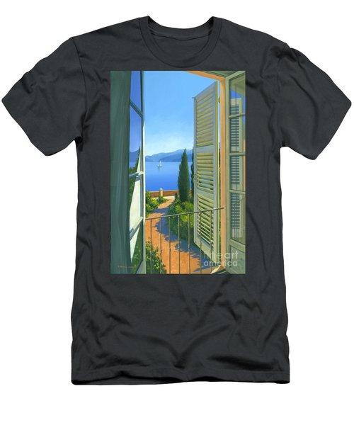 Como View Men's T-Shirt (Slim Fit) by Michael Swanson