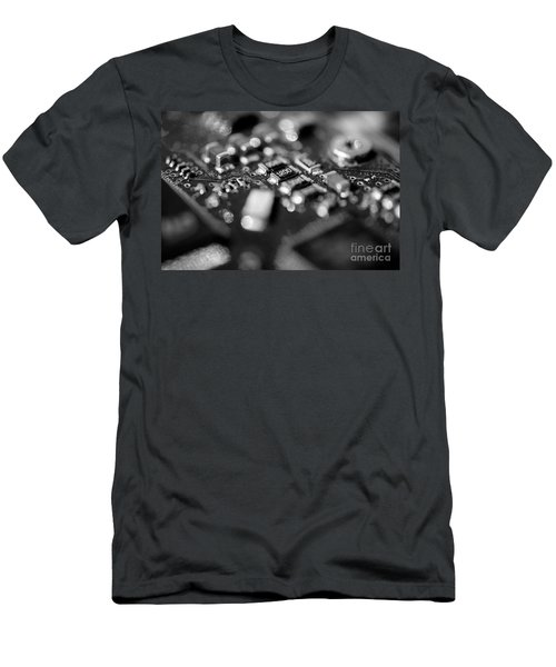 Computer Board Black And White Men's T-Shirt (Athletic Fit)