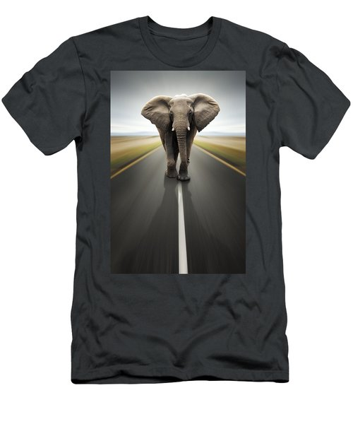 Heavy Duty Transport / Travel By Road Men's T-Shirt (Athletic Fit)