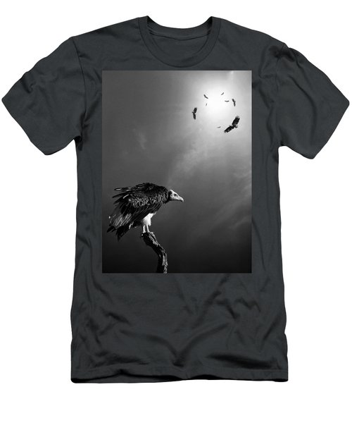 Conceptual - Vultures Awaiting Men's T-Shirt (Slim Fit) by Johan Swanepoel