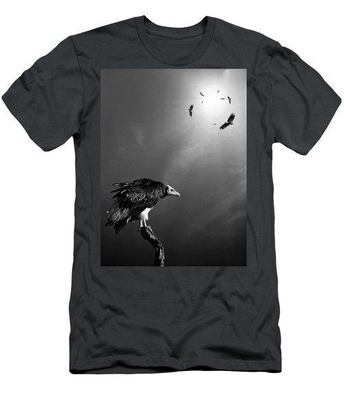 Conceptual - Vultures Awaiting Men's T-Shirt (Athletic Fit)