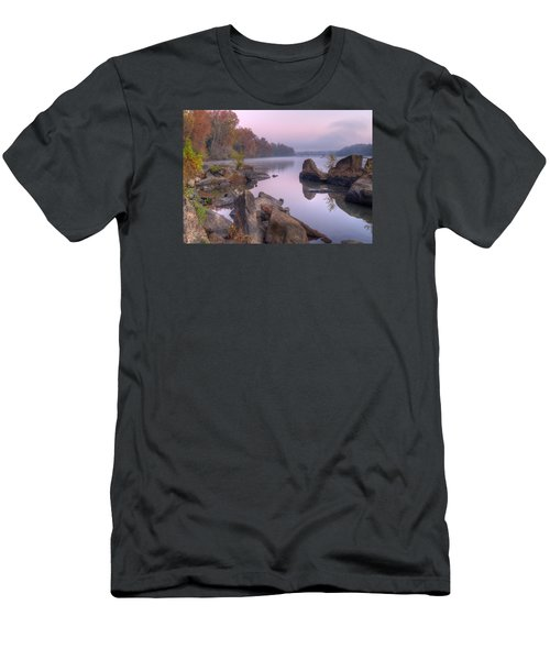 Congaree River At Dawn-1 Men's T-Shirt (Slim Fit) by Charles Hite