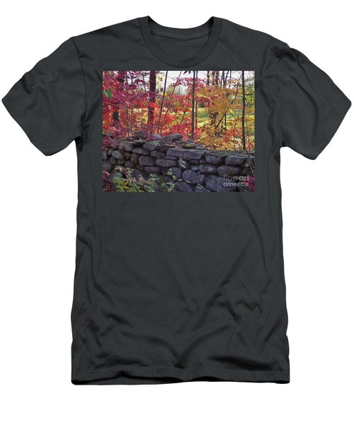 Connecticut Stone Walls Men's T-Shirt (Athletic Fit)