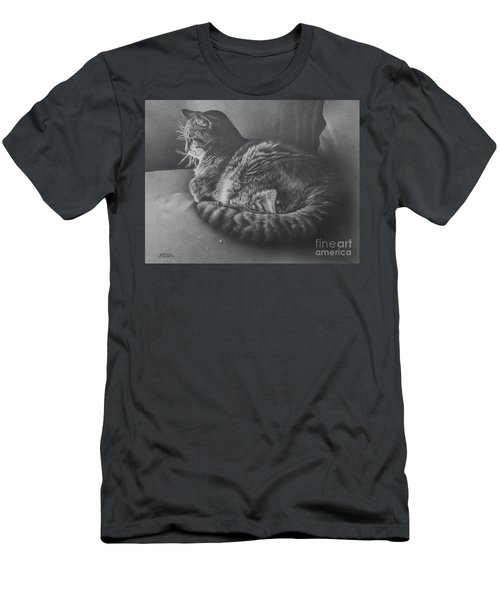 Men's T-Shirt (Slim Fit) featuring the drawing Contentment by Pamela Clements