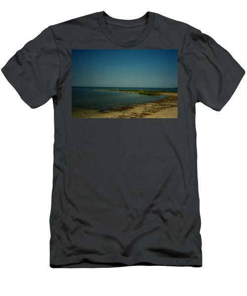 Men's T-Shirt (Slim Fit) featuring the photograph Cool Day For A Swim by Amazing Photographs AKA Christian Wilson