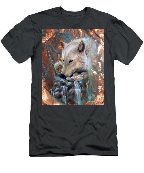 Copper Arctic Wolf Men's T-Shirt (Athletic Fit)
