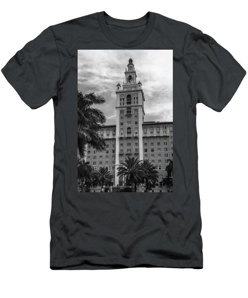Coral Gables Biltmore Hotel In Black And White Men's T-Shirt (Athletic Fit)