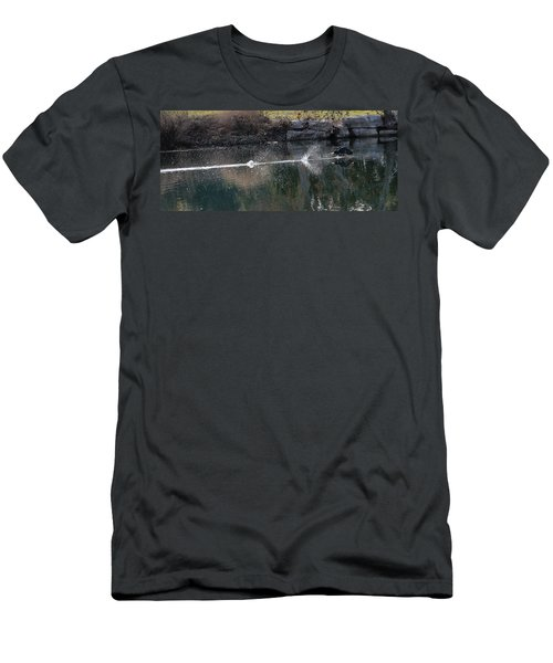 Cormorant Take-off Men's T-Shirt (Athletic Fit)