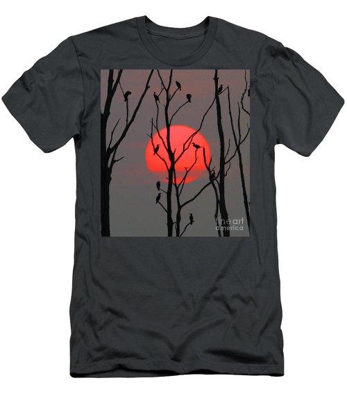 Cormorants At Sunrise Men's T-Shirt (Slim Fit) by Roger Becker