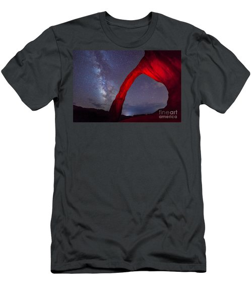 Corona Arch Milk Way Red Light Men's T-Shirt (Athletic Fit)