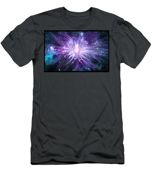 Cosmic Heart Of The Universe Men's T-Shirt (Slim Fit) by Shawn Dall