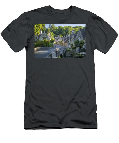 Men's T-Shirt (Athletic Fit) featuring the photograph Cotswold Village by Brian Jannsen