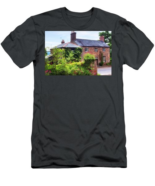 Cottage In England Men's T-Shirt (Athletic Fit)