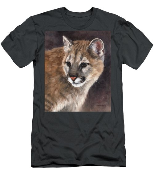 Cougar Cub Painting Men's T-Shirt (Athletic Fit)