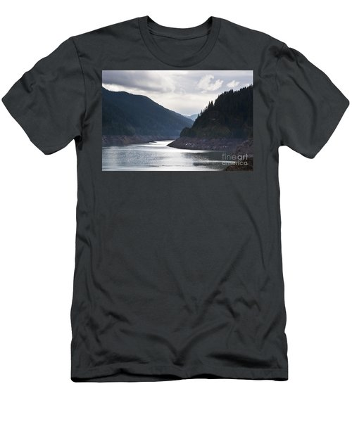 Men's T-Shirt (Slim Fit) featuring the photograph Cougar Reservoir by Belinda Greb