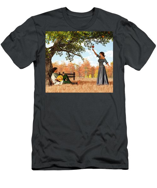Couple At The Apple Tree Men's T-Shirt (Athletic Fit)