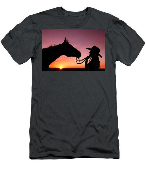 Men's T-Shirt (Athletic Fit) featuring the photograph Cowgirl Sunset by Todd Klassy